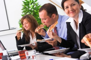 A workplace that eats pizza together, gets bigger together!
