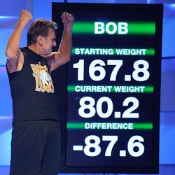 Bob Herdsmen, winning the Biggest Loser in 2009
