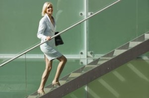 Keep active at work by taking the 'walking' option whenever you can.