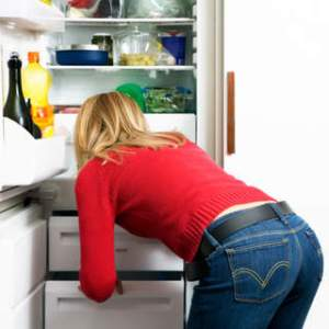 As soon as dinner is over, close the fridge and don't go back until breakfast!