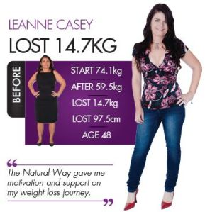Lovely Leanne after losing 14.7kg