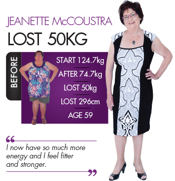 Jeanette from our Ipswich clinic proves that losing weight over 50 is not difficult - great work Jeanette!