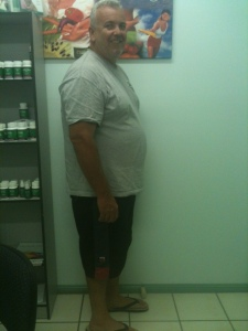 Mick weighed in at 121.1kg